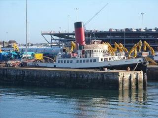 Tug tender Calshot in preservation