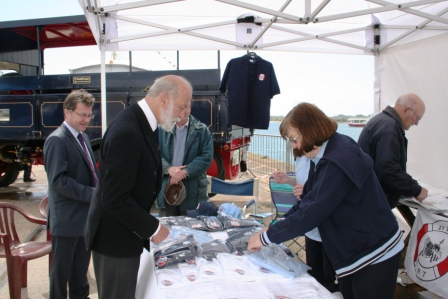 HRH Prince Michael of Kent encouraging fundraising for the Dunkirk Small Ships at the Southampton Maritime Festival on 5th May 2013 Image Ann MacGillivray