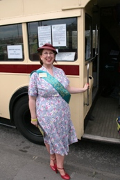 Our stewards were encouraged to dress in 1940's style Image Ann MacGillivray