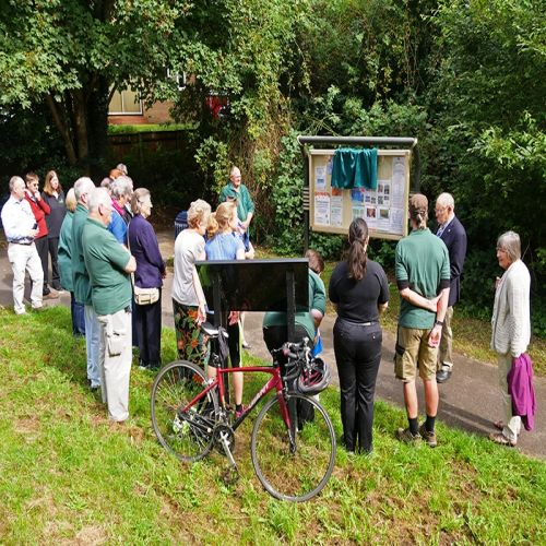 The Open Green Spaces Award ceremony at Millers Pond. image Bruce Larner