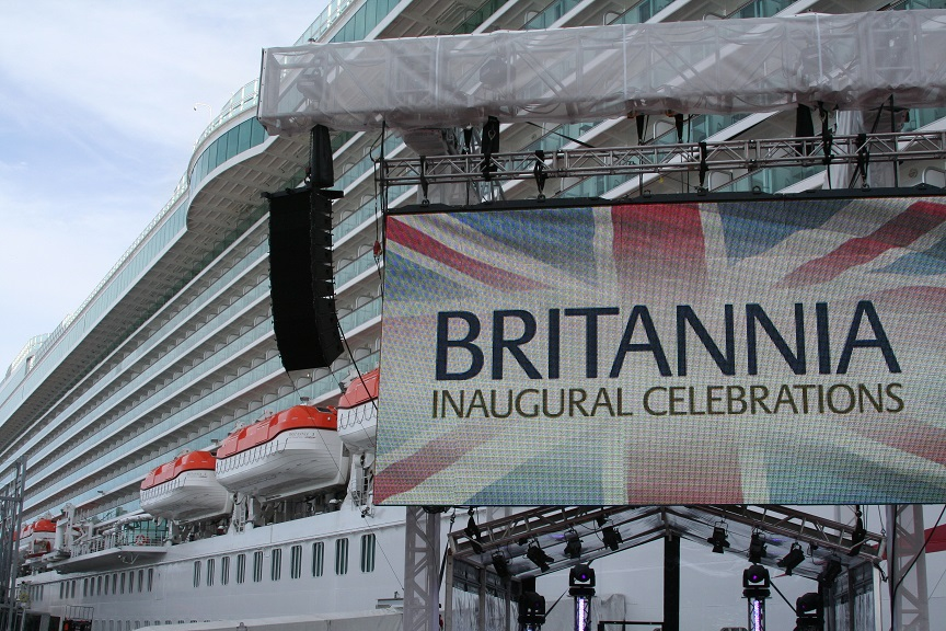 Naming ceremony of P&O Cruises flagship Britannia on 10th March 2015 Image copyright Ann MacGillivray 2015
