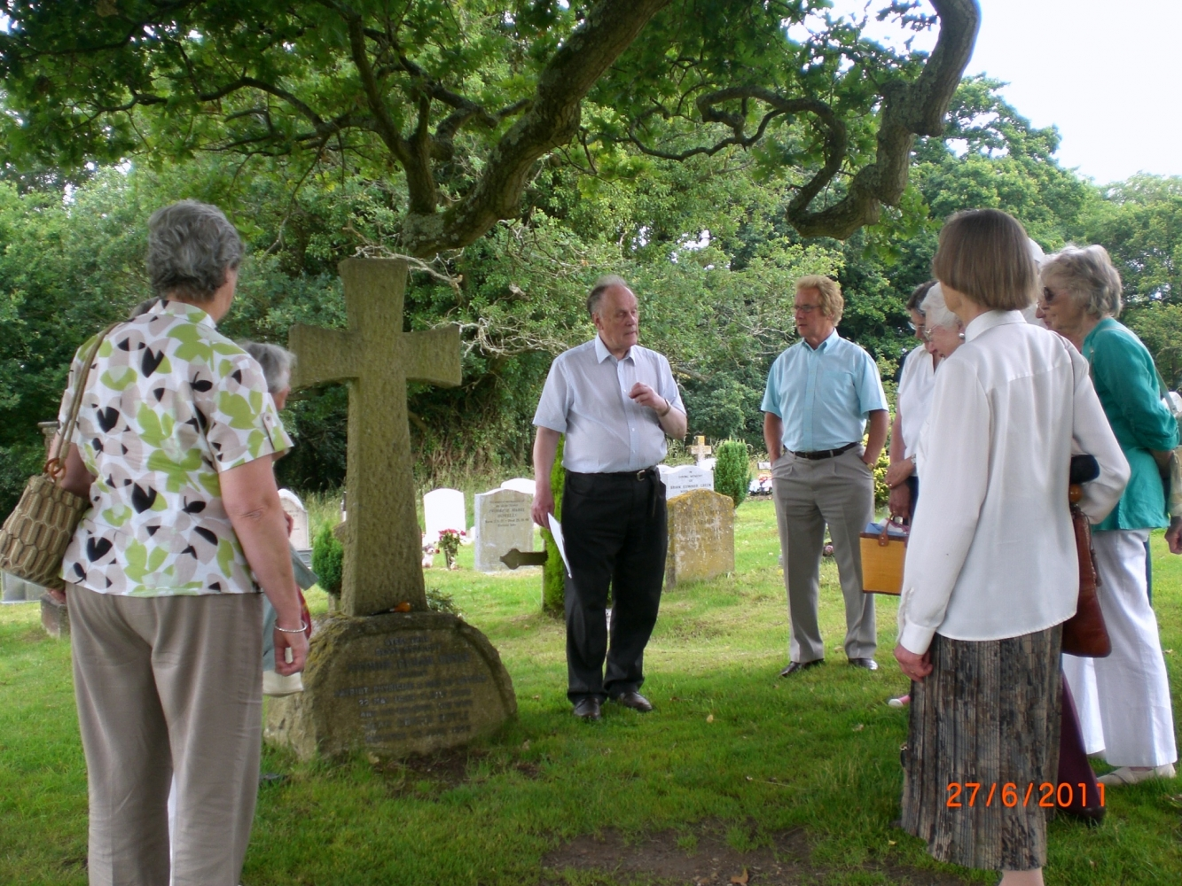 Our outdoor visit to Minstead Church in 2011 image Will Temple