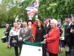 The Mayor and Mayoress unveiled the Information Lectern on 10th May 2012 image Will Temple