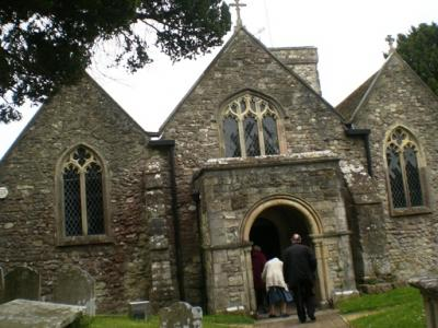 entering All Saints church Fawley Image Will Temple