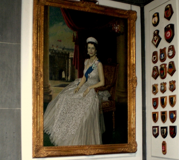 Portrait HM The Queen at the Mayor's Parlour, Civic Centre, Southampton. Image Will Temple