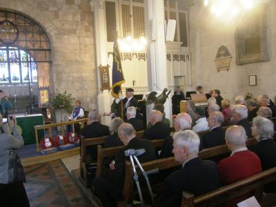 The congregation at the dedication service in St Michael and All Angels. Image Arthur Jeffery