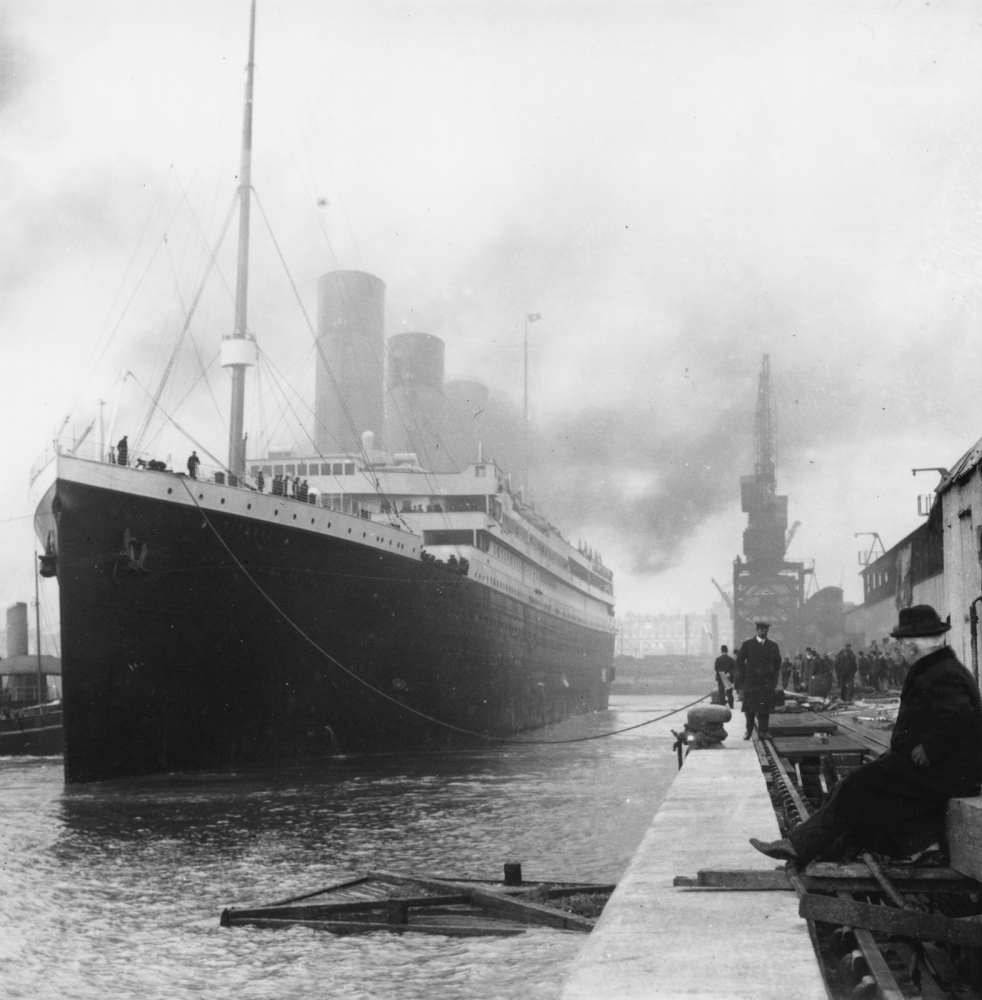 Titanic departing from Southampton April 1912