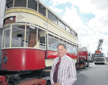 Southampton Tram with SHF member Alan Jones