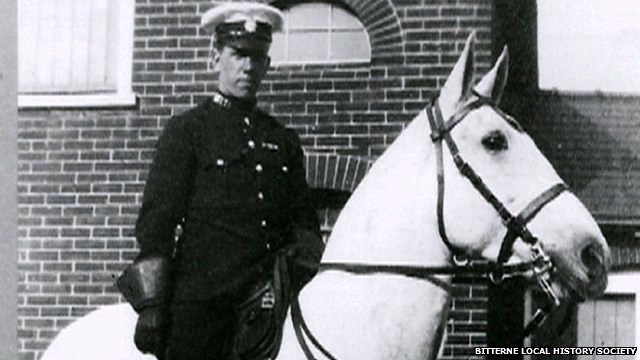 Warrior who after service on the front in WWI became a Southampton Police Horse. Image by kind permission Bitterne Local History Society