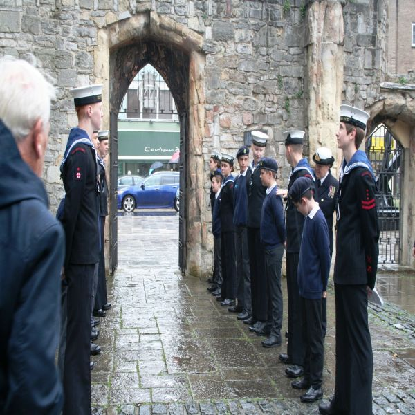 Merchant Navy annual service at Holy Rood, Southampton image Ann MacGillivray